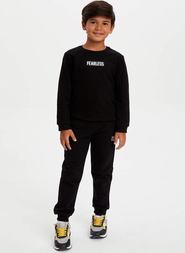 DeFacto Slim Fit Cepli Pantolon Siyah